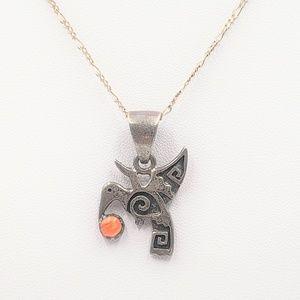 Jewelry - Southwestern Hummingbird Figaro Pendant Necklace